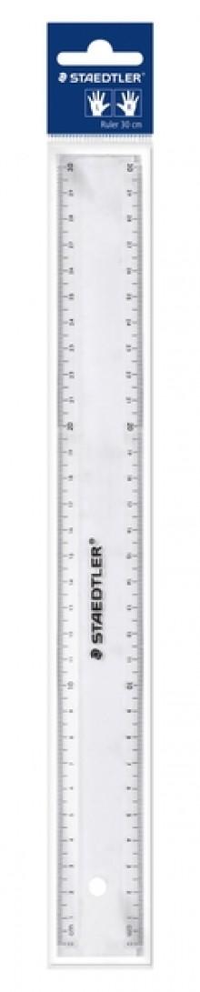 Lineal Kunststoff transparent 30cm im Polybeutel