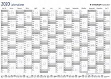 Ausgebreiteter Jahresplaner