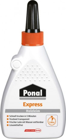 Ponal Express Holzleim, 120g Flasche,