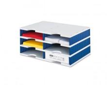 Styrodoc Grundeinheit 6 Fächer Grundeinheit 2 breit grau/blau