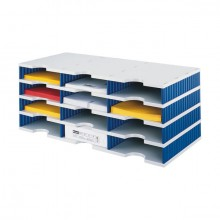 Sortierstation Standard 9 Fächer grau/blau, sytrodoc