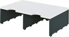 Styrodoc Aufbaueinheit 2 Fächer breit, Jumbohöhe grau/schwarz