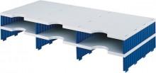 Sortierstation Aufbau 6 Fächer grau/blau, sytrodoc