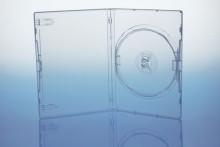 DVD-Leerhülle Single, transparent, PP, 136 x 191 x 15 mm