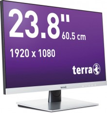 "LCD/LED Monitor 2462W silber 23,8"" Full-HD-Display, AMVA-Panel"