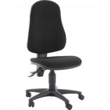 Bürodrehstuhl Point 60 schwarz, ohne Armlehne, Fußkreuz schwarz