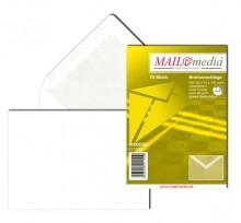 MAILmedia Briefumschlag C6, ohne Fenster, Nassklebung, 80 g/qm, weiß