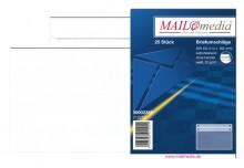 MAILmedia Briefumschlag C6, ohne Fenster, Selbstklebung, 75 g/qm, weiß, 25 stk.