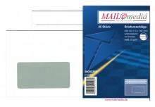 MAILmedia Briefumschlag C6, mit Fenster, Selbstklebung, 75 g/qm, weiß