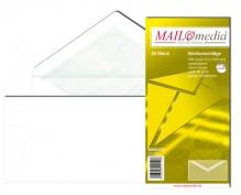 MAILmedia Briefumschlag DIN Lang, ohne Fenster, Nassklebung, 80 g/qm, weiß