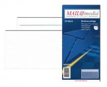 MAILmedia Briefumschlag DIN Lang, ohne Fenster, Selbstklebung, 75 g/qm, weiß