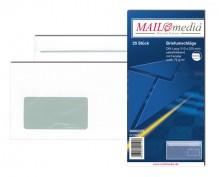 MAILmedia Briefumschlag DIN Lang, mit Fenster, Selbstklebung, 75 g/qm, weiß