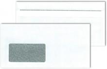 MAILmedia Briefumschlag DIN Lang mit Fenster, Selbstklebung, weiß, Blickdicht, Sicherheitsschlitz
