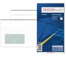 MAILmedia Briefumschlag kompakt, mit Fenster, selbstklebend, 75 g/qm, weiß