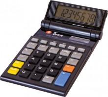 Taschenrechner, anzeigend, 8-stellig schwenkbares Display, schwarz.