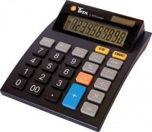 Tischrechner, anzeigend, 12-stellig Solar und Batterieb, schwarz,
