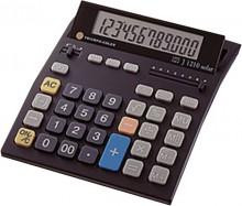 Tischrechner schwarz, 12-stelliges LCD Display, Eurofunktion,