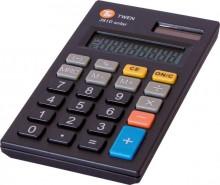 Taschenrechner, anzeigend, 8-stellig Solar und Batterieb, schwarz,
