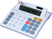 Tischrechner, anzeigend, 12-stellig Solar und Batterieb, weiss