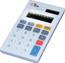 Taschenrechner, anzeigend, 8-stellig Solar und Batterieb, weiss