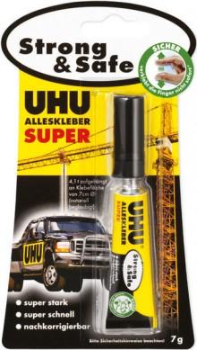 Alleskleber UHU Super Strong & Safe Tube Infokarte 7g