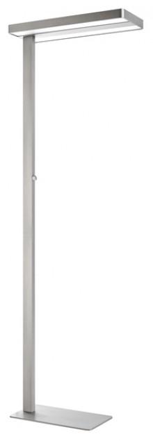 Unilux LED-Stehleuchte Variaglass metallgrau, Modernes Design