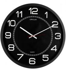 Unilux Wanduhr, MEGA, schwarz analoger Zeitanzeige