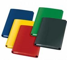 Heftbox A4 -KARTON- sort. rot,blau,gelb, grün, schw.