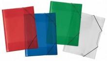 Sammelmappe A3 Crystal sort. rot,grün,blau,+transp.