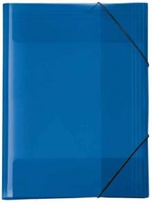 Ordnungsmappe A4 Crystal blau