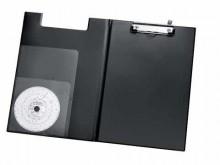 Klemmbrett A4 Tacho schwarz mit Stifthalterung
