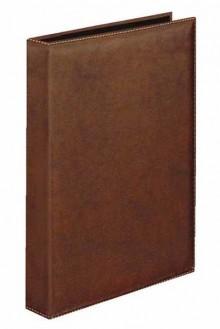 Ringbuch A4 -Exquisit- braun 4 4-R-Combi 25mm