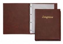 Ringbuch A4 braun Zeugnisse 4-Ring 16mm
