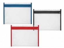Sammelmappe VELOBAG, XS, PP-Folie, DIN A4, rot, mit Reißverschluß, zum