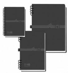 Telefonringbuch mit Spiralbind A7 schwarz
