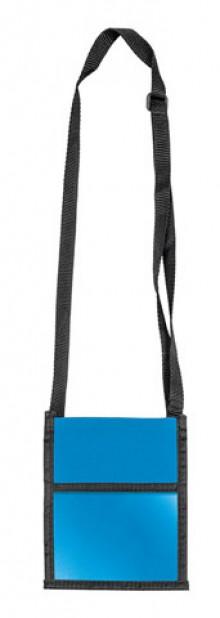 Brustbeutel Velocolor blau 135x175mm aus Polyester