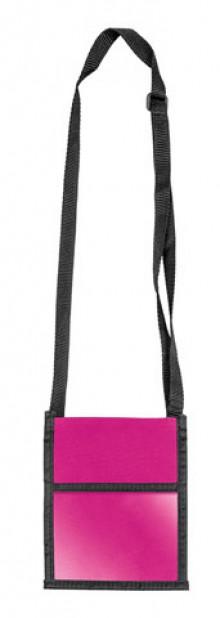 Brustbeutel Velocolor pink 135x175mm aus Polyester