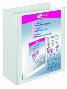 Präsentationsringbuch Velodur A4 2-Ring 60mm Ringdurchmesser weiß