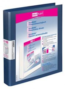 Präsentationsringbuch Velodur A4 2-Ring 25mm Ringdurchmesser blau