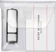 USB-Stick-Hüllen zum Einkleben PP, für 2 Sticks, glasklar