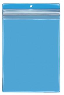 VELOBAG Protect A5, blau, Druck- verschluss, PVC-Folie, mittig gelocht