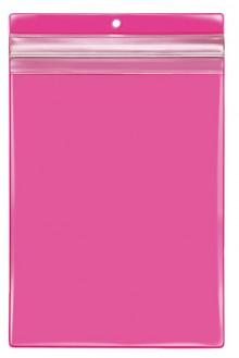 VELOBAG Protect A5, pink, Druck- verschluss, PVC-Folie, mittig gelocht