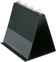 Tischflipchart A4 quer schwarz 4-Ring Ø 20mm inkl. 10 Hüllen