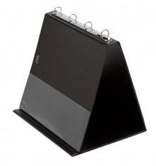 Tischflipchart A4 quer weiss 4-Ring Ø 20mm inkl. 10 Hüllen