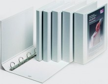 Präsentationsringbuch Velodur A4 4-Ring 40mm Ringdurchmesser weiß
