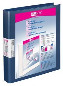 Präsentationsringbuch Velodur A4 4-Ring 25mm Ringdurchmesser blau