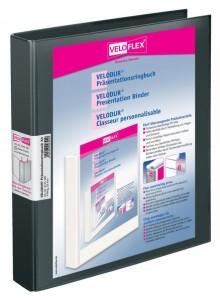 Präsentationsringbuch Velodur A4 4-Ring 25mm Ringdurchmesser sw
