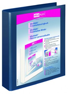 Präsentationsringbuch Velodur A4 2-Ring 30mm Ringdurchmesser dblau