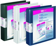 Präsentationsringbuch Velodur A4 2-Ring 30mm Ringdurchmesser weiß