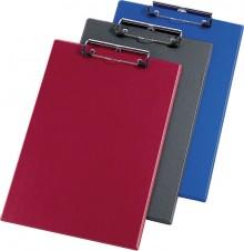 Schreibplatte A4 blau Spezialklammer m. Hängeöse
